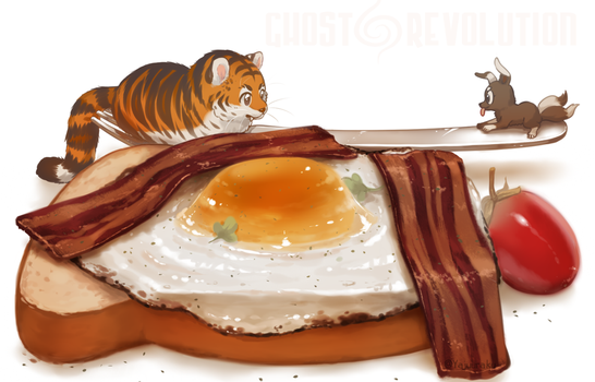 Egg-in-a-hole by Yajuuu