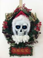 Hogfather DEATH Wreath by puggdogg