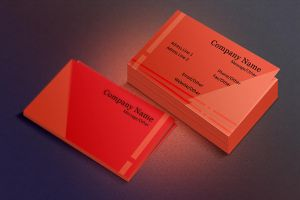 Red Business Card by SobohRami