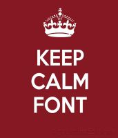 Font Keep Calm by AguustiinaEditions