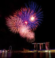Marina Bay Sands Fireworks2 by melvynyeo