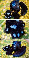 FOR SALE: Black/blue wolf partial by yeep-yeep