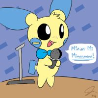 Minun Onstage by PsyRedtails