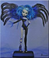 Azure~Custom OOAK Monster High Ghoulia Yelps Fairy by KrisKreations