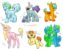 Monster Pony Adopts- 1 left (Price Drop) by SweetKeyDani