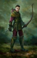 Young Elven Bowman by AndrewRyanArt