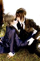 Ciel and Sebastian by Annechan-Mana-