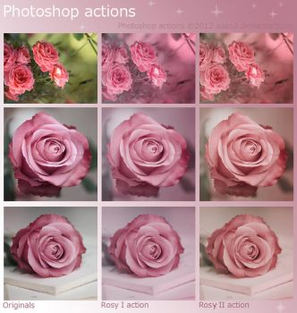 Rosy Photoshop Actions - FREE by aoao2