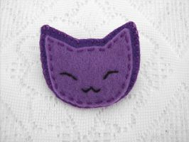 Cute felt kitty by PeachPodHandmade