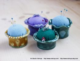 Pincushions and Decorative Pins by vavaleff