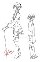 grown up Ciel - outlines by MC-Neko
