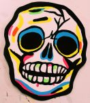 Skull Vintage Halloween Mask Painting by Insert-Name-YouIdiot