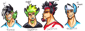 The 3 Stooges And Septimus by Hades-O-Bannon