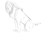problem drawing sitting lion by the-giver-of-breath