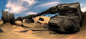 Star Wars The Force Awakens - ATAT Wreck 3dmax by Sithjcull