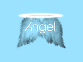 Angel Typography by Mistress-Fluffeh