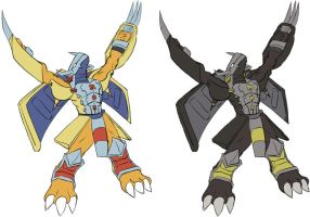 Wargreymon and BlackWargreymn by Dsurion