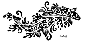 Koi tribal by Sunima