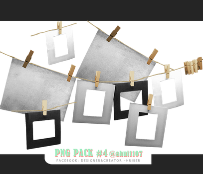 PNG PACK #4_Matboard frame by ahui1107