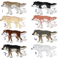 Wolf Adoptables (CLOSED) by IcedAdopts