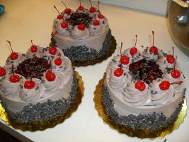 Chocolate Blackforest Cakes by Nimhel
