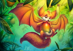 Hybrid Challenge: Fennec Fox + Fruit Bat by May-Romance