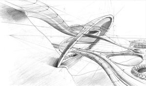 architectural sketch 6 by Mihaio