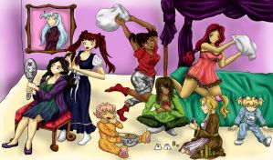 Seven Deadly Slumber Party by Denindria
