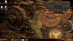 Steampunk theme W.I.P. 1st screen by nofx1994