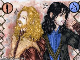 Durins Princes Fili and Kili by Mirubefu