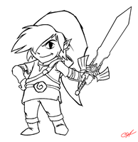 Twilght Toon Link by seraphimon83