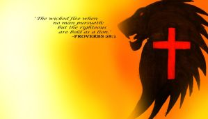 Proverbs 28:1 by SpudCreations