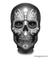 Fast Day of the Dead Skull by SketchMonster1