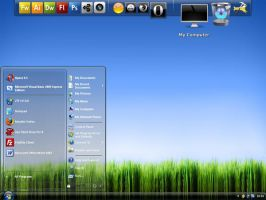 My XP-Vista Desktop by Gigacore