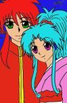 Kurama and Botan Lineart Color by HanakoAnimeaddict