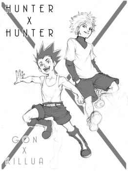 Gon and Killua by o0DIABLO0o