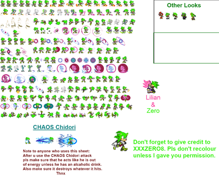 Zero Sprite sheet Updated by XXXZERO8