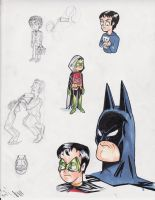 quick Damian Wayne sketches by after-the-funeral
