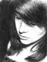 Riley original drawing in charcoal by JackMartinJr