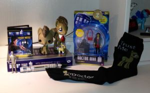 My updated Doctor (and dr. Whooves) collection by Timelord909