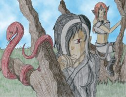 Beater, Snake, and Dragon by KTdragon
