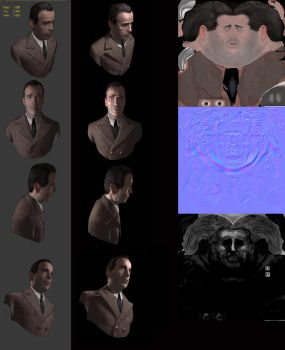 Humphrey Bogart - Low Res with normal map by dominicjan