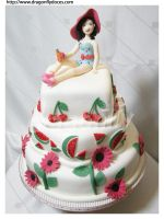 Katy Perry Cake by dragonflydoces