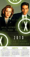 X-Files Wall Calendar stapled mexican style 2015 by rickymanson