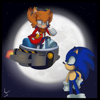 Sonic vs Ivo by WasleyTheBronyCat