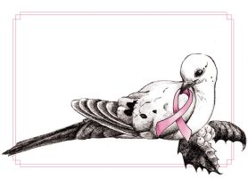 Breast Cancer Christmas Card by sugarsphinx