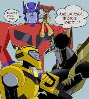 Bumblebee vs Prowl by J-666