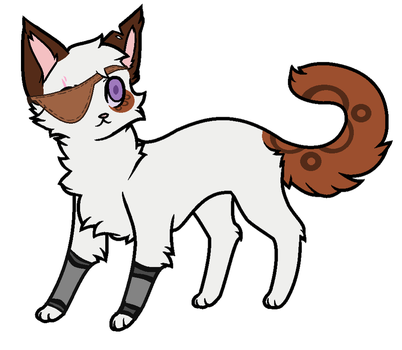 Random Cat with a eye-patch (adoptable) by PoisonFate