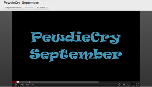 PewdieCry September video by Zacaria-Lain