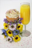Mimosa Cupcake by FightTheAssimilation